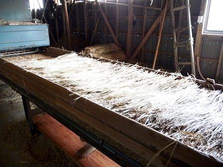 ワラ畳床製造工程