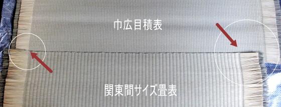 畳表の巾の違い