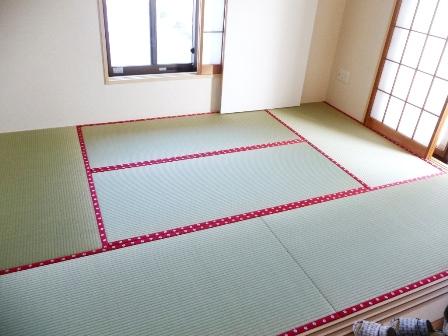 きたろう畳から薄畳への入れ替え新畳工事
